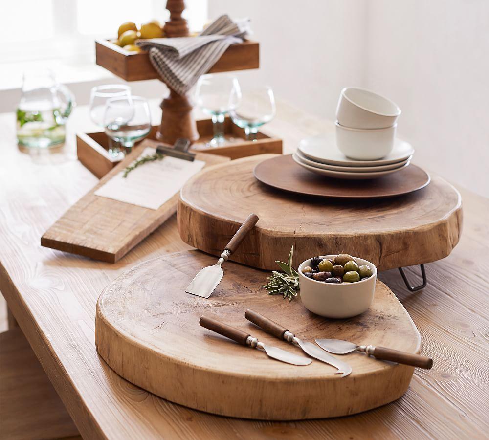 Wood Slab Cheese Serve Board