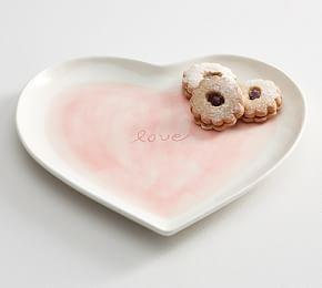 Watercolour Heart-Shaped Platter