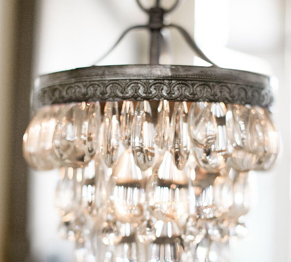 Clarissa Glass Drop Small Round Chandelier