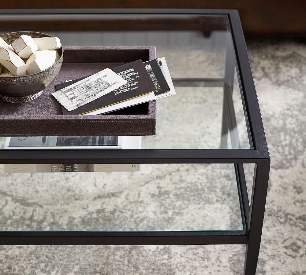Tanner Rectangular Coffee Table - Bronze finish