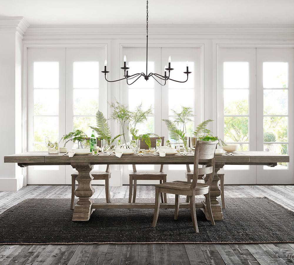 Banks Extending Dining Table - Grey Wash
