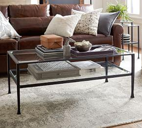 Tanner Rectangular Coffee Table - Bronze finish