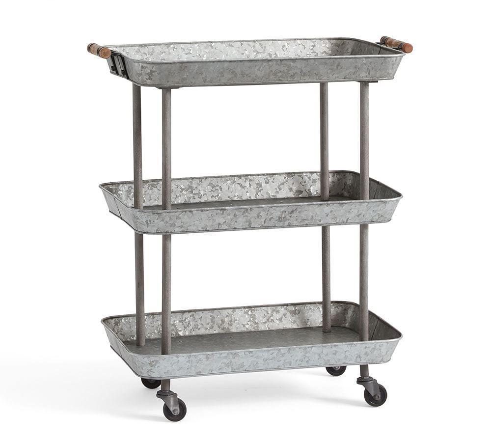 Rainier Galvanised Storage Cart