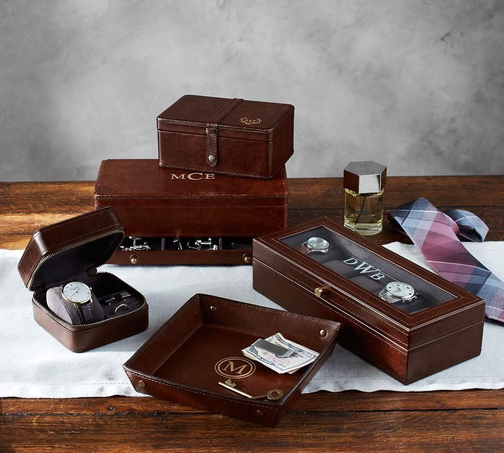 Saddle Leather Jewellery Collection - Chocolate