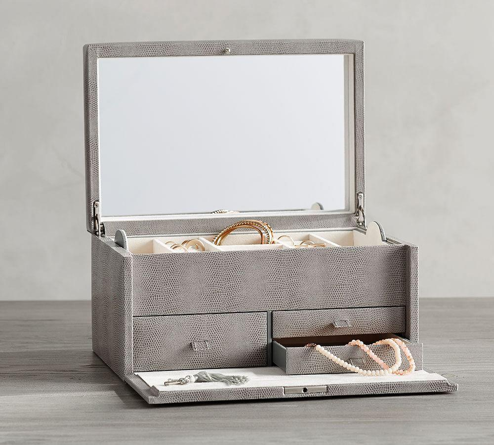 McKenna Leather Large Jewellery Box