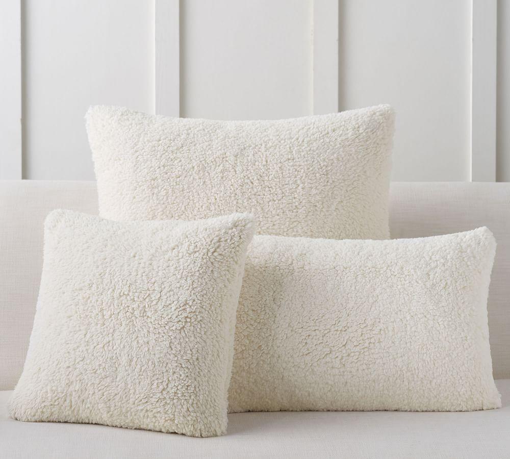 Faux Sheepskin Cushion Covers