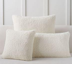 Faux Sheepskin Cushion Covers