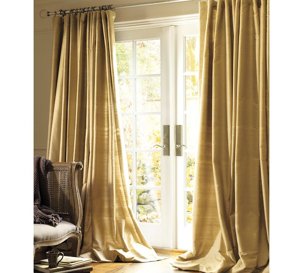 dupioni silk curtain pottery barn au