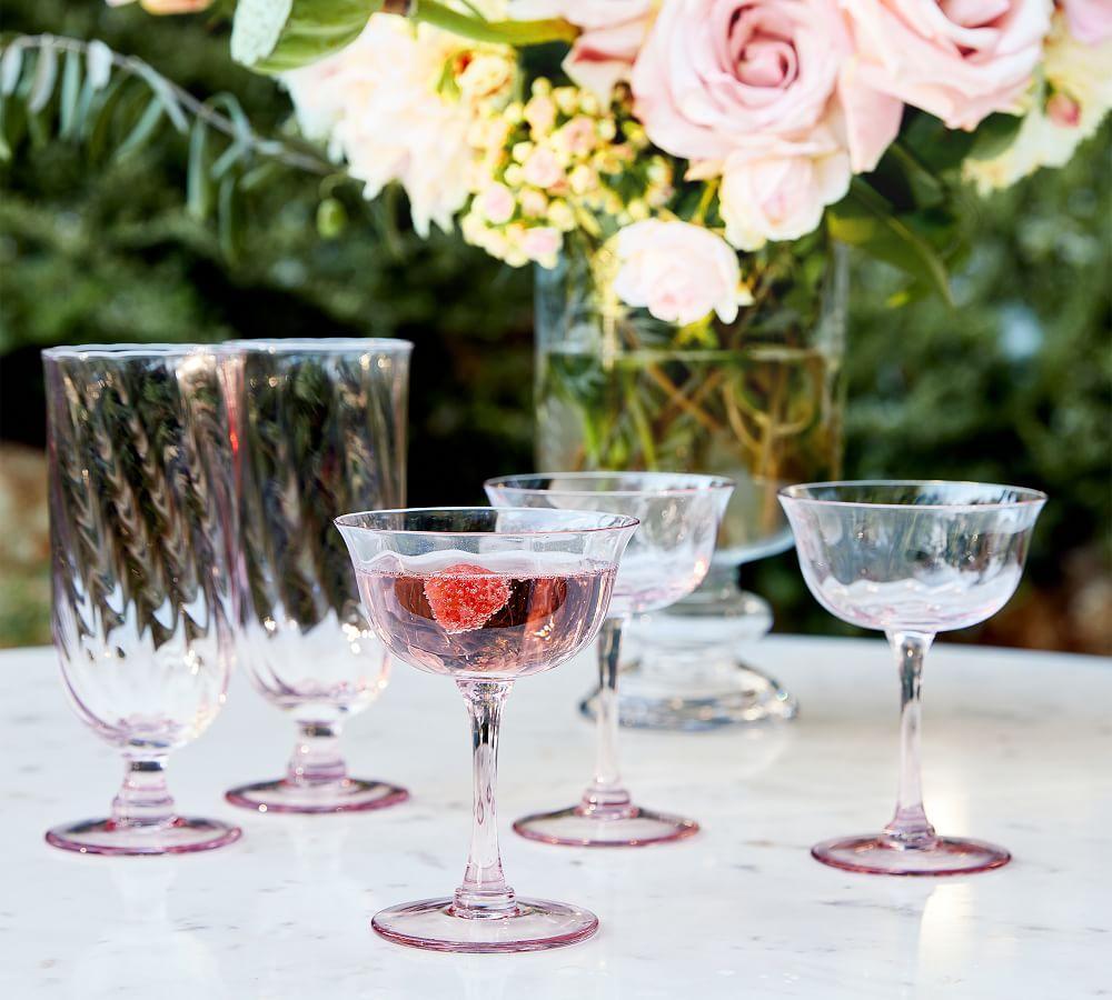 Monique Lhuillier Clare Swirl Iced Tea Glass, Set of 4