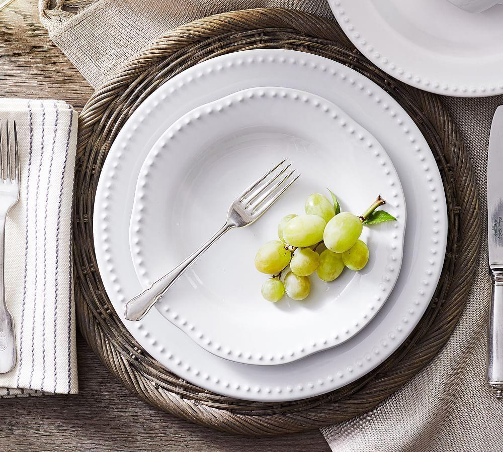 Emma Salad Plate - True White