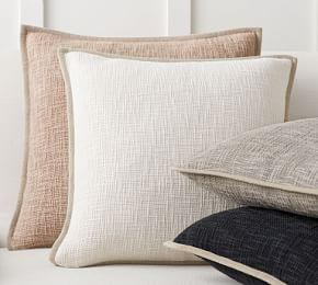 Cotton Basketweave Cushion Covers