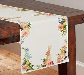 Floral Bunny Table Runner