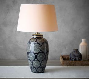 Jamie Young Langley Ceramic Vase Lamp