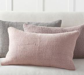 Faye Textured Linen Lumbar Cushion Cover