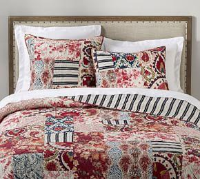 Malbi Patchwork Coverlet & Pillowcases