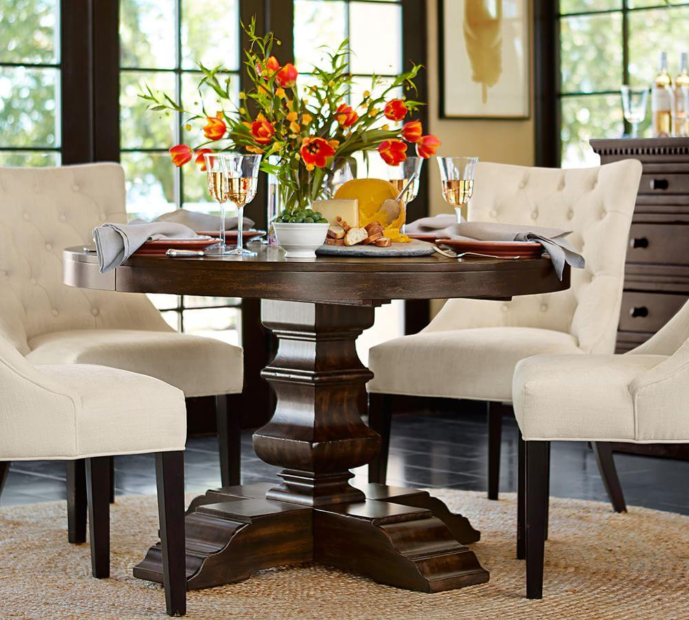 Banks Extending Pedestal Dining Table Pottery Barn