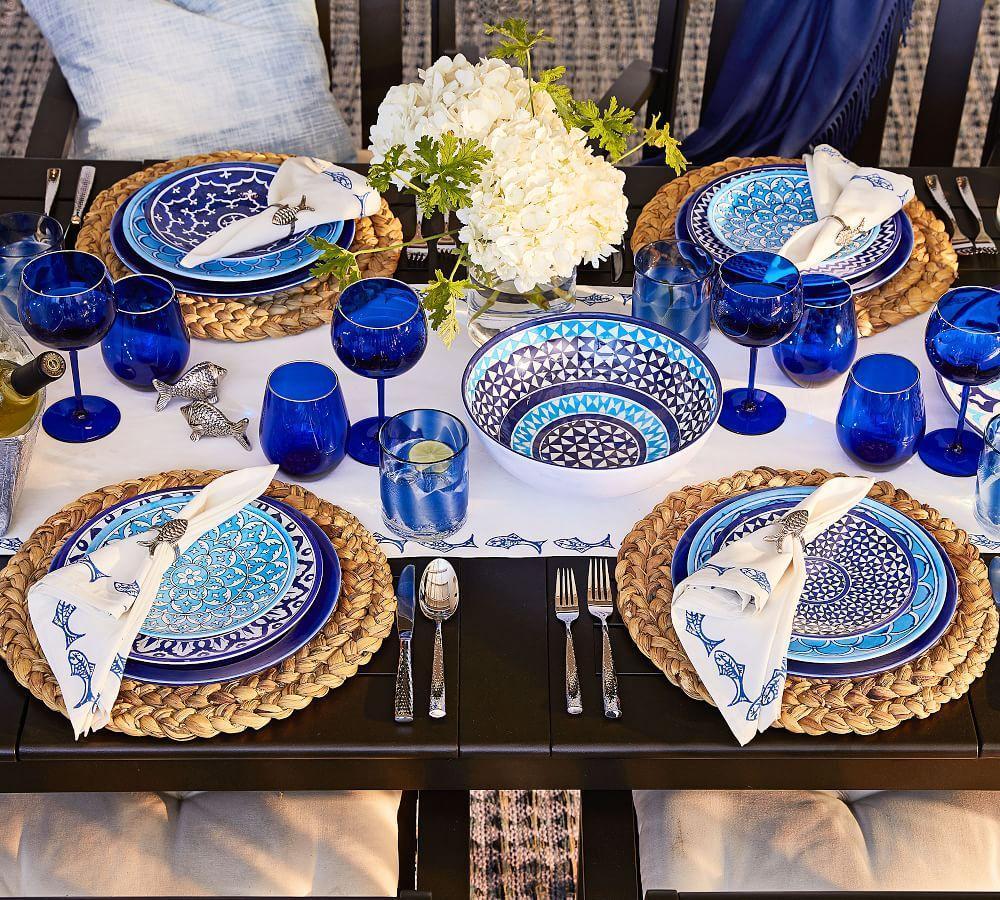 Hampton Melamine Dinner Plate - Mixed, Set of 4