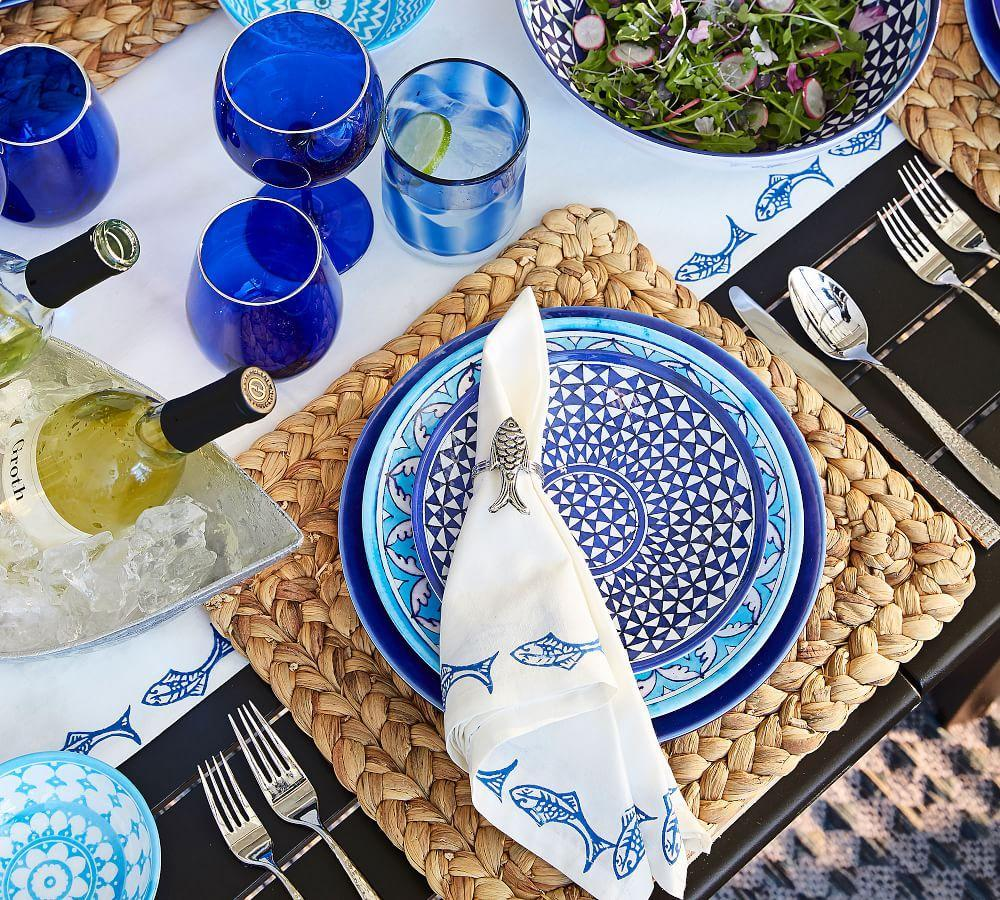 Hampton Melamine Salad Plate - Mixed, Set of 4