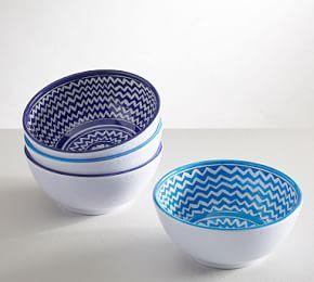 Hampton Melamine Individual Bowl- Mixed, Set of 4