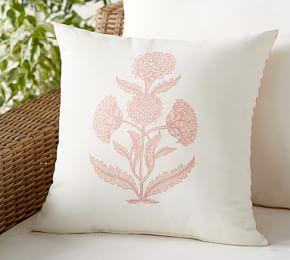 Indoor & Outdoor Aleyna Floral Reversible Stripe Cushion