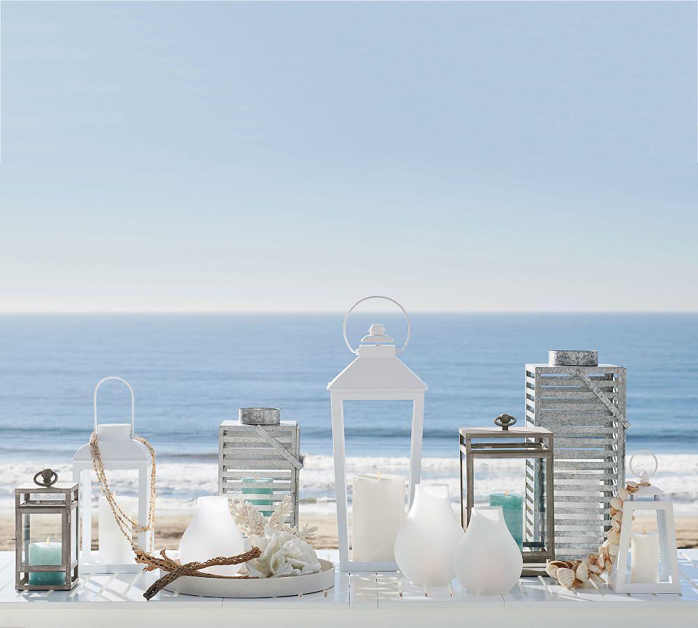 Smith Eclectic Lantern - White