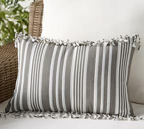 Indoor & Outdoor Melilla Fringe Lumbar Cushion