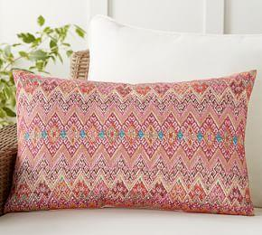 Indoor & Outdoor Gianni Embroidered Lumbar Cushion