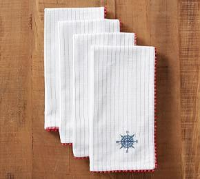 Compass Embroidered Napkin
