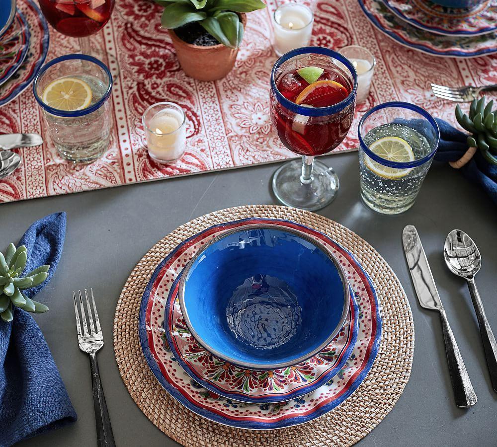 Del Sol Melamine Salad Plate - Pink