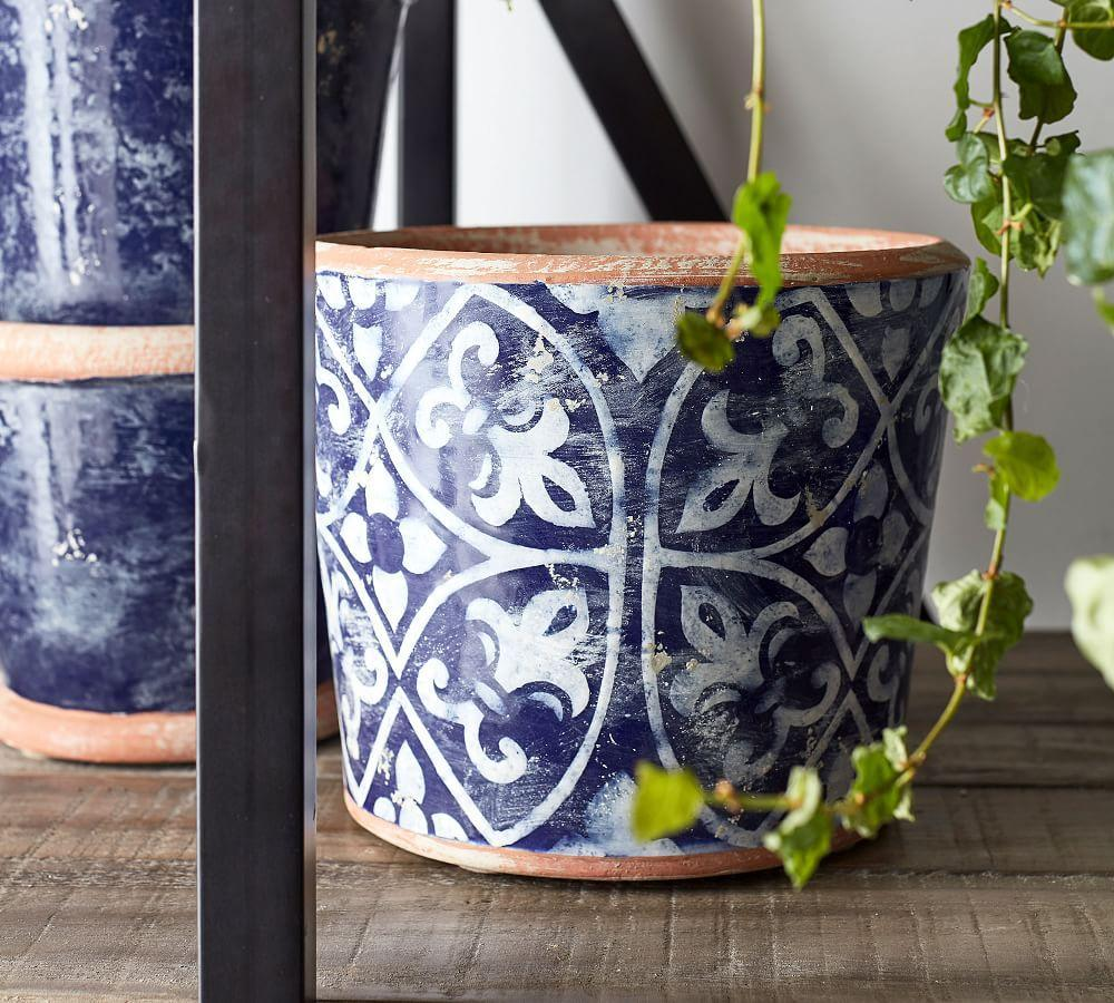 Ceramic Cachepot Collection - Patterned