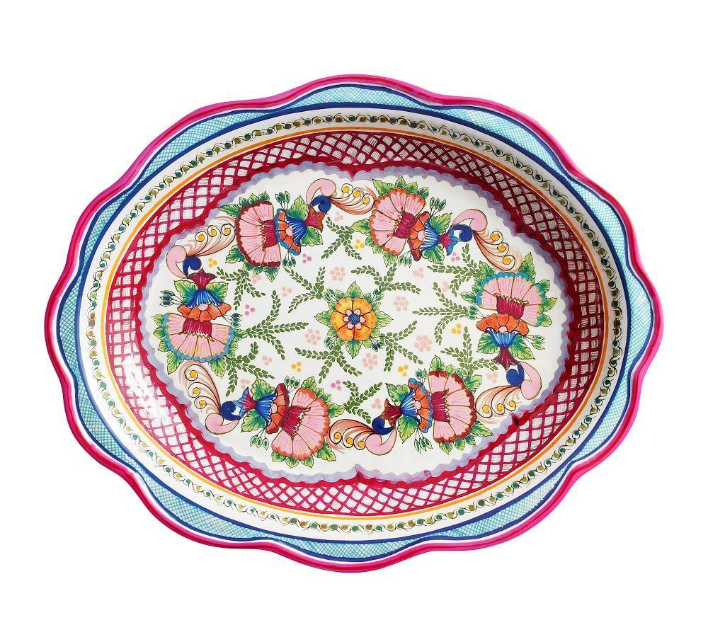 Del Sol Melamine Platter - Pink