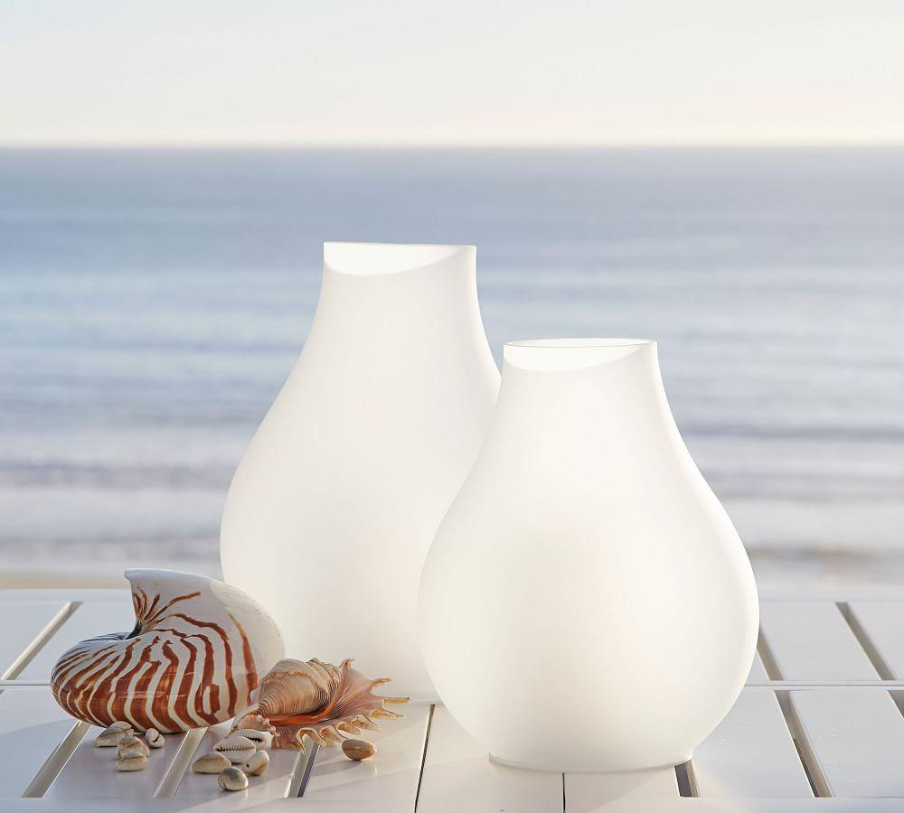 Light Up Frosted Glass Lantern Pottery Barn Au