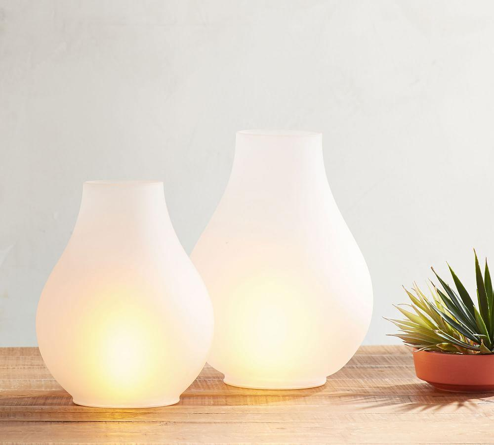 Light Up Frosted Glass Lantern