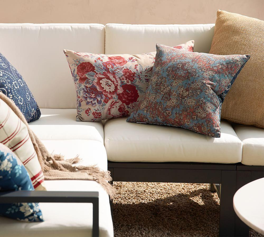 Indoor & Outdoor Faux Natural Fibre Flange Cushion