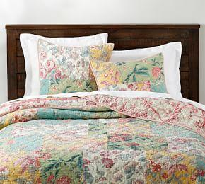 Shirley Floral Reversible Patchwork Coverlet & Pillowcase
