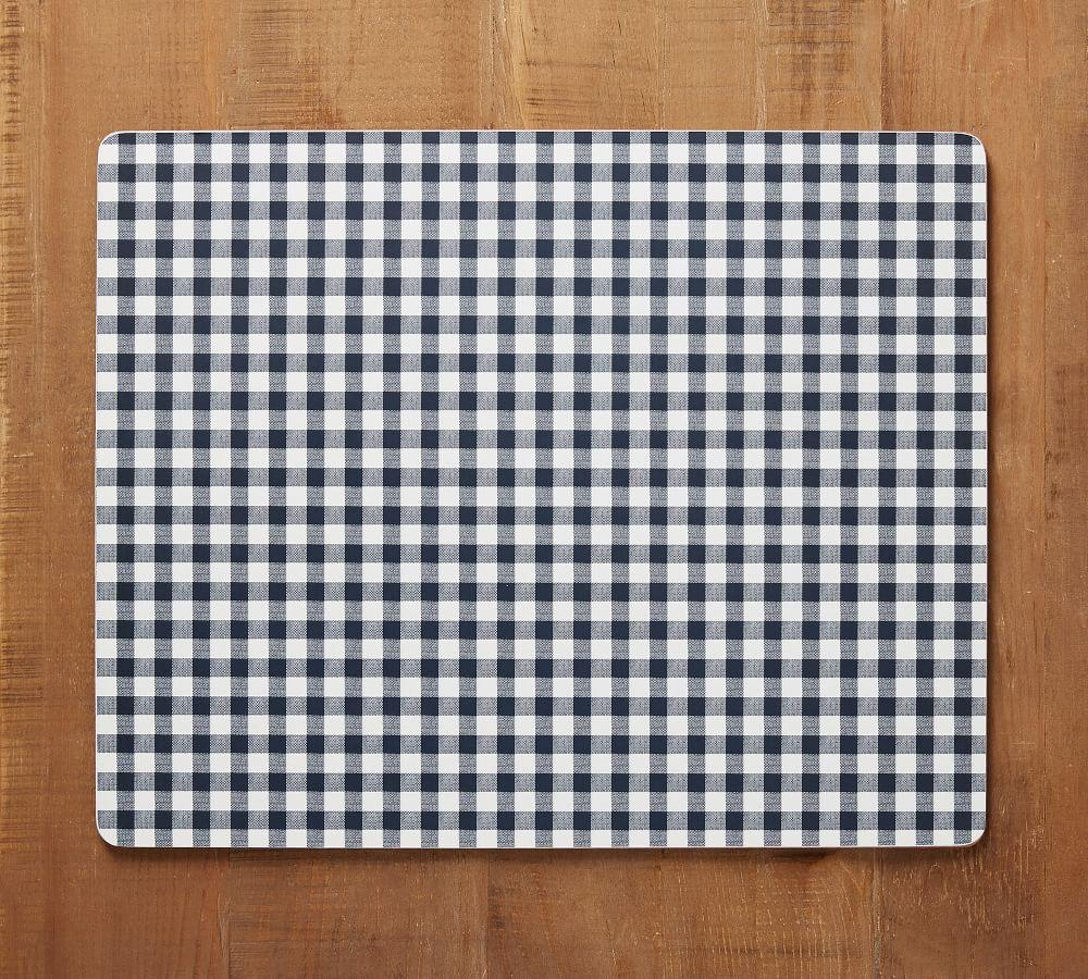 Gingham Cork Placemat - Navy