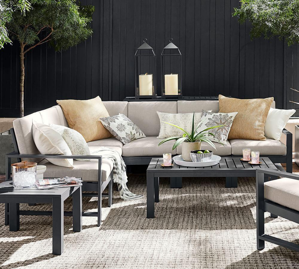 Build Your Own - Indio Metal Sectional Components, Slate