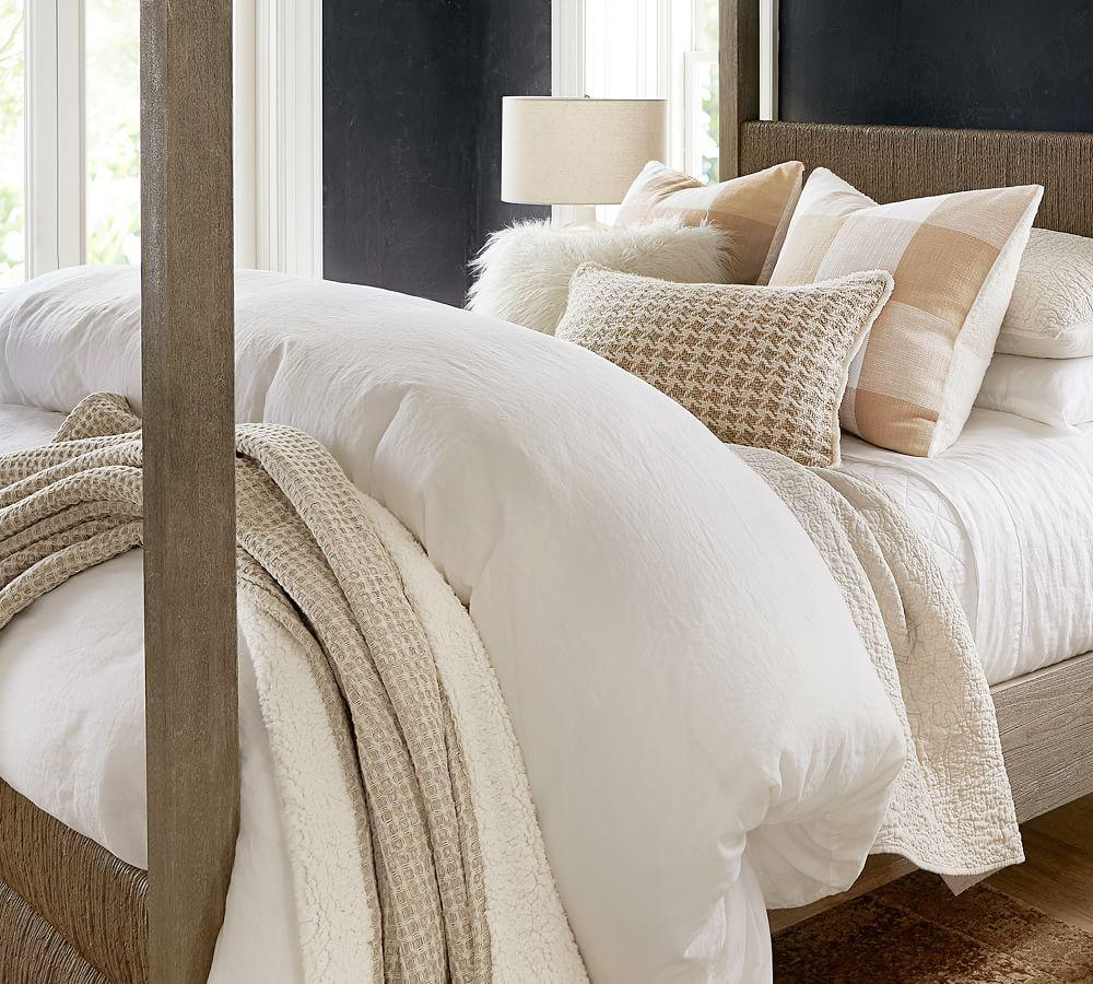 Belgian Flax Linen Quilt Cover & Pillowcase - Ivory