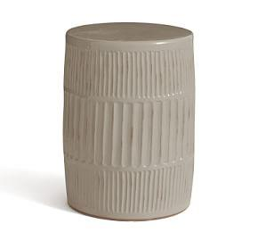 Fluted Ceramic Accent Drum