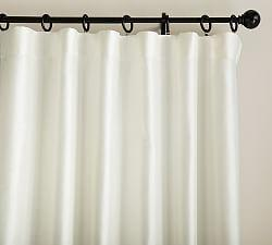 Dupioni Silk Curtain - Ivory