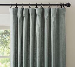 Emery Linen/Cotton Curtain - Blue Dawn