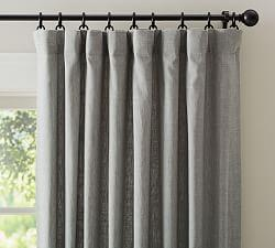 Emery Linen/Cotton Curtain - Grey