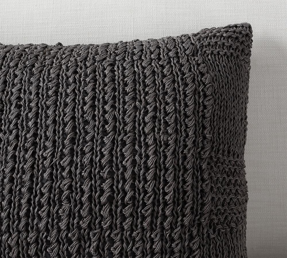 Calla Handknit Jute Cushion Cover