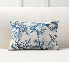 Carlo Coral Print Lumbar Cushion Cover