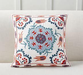 Ezio Embroidered Cushion Cover