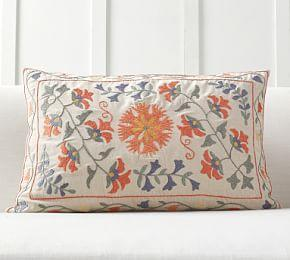Jasper Embroidered Lumbar Cushion Cover