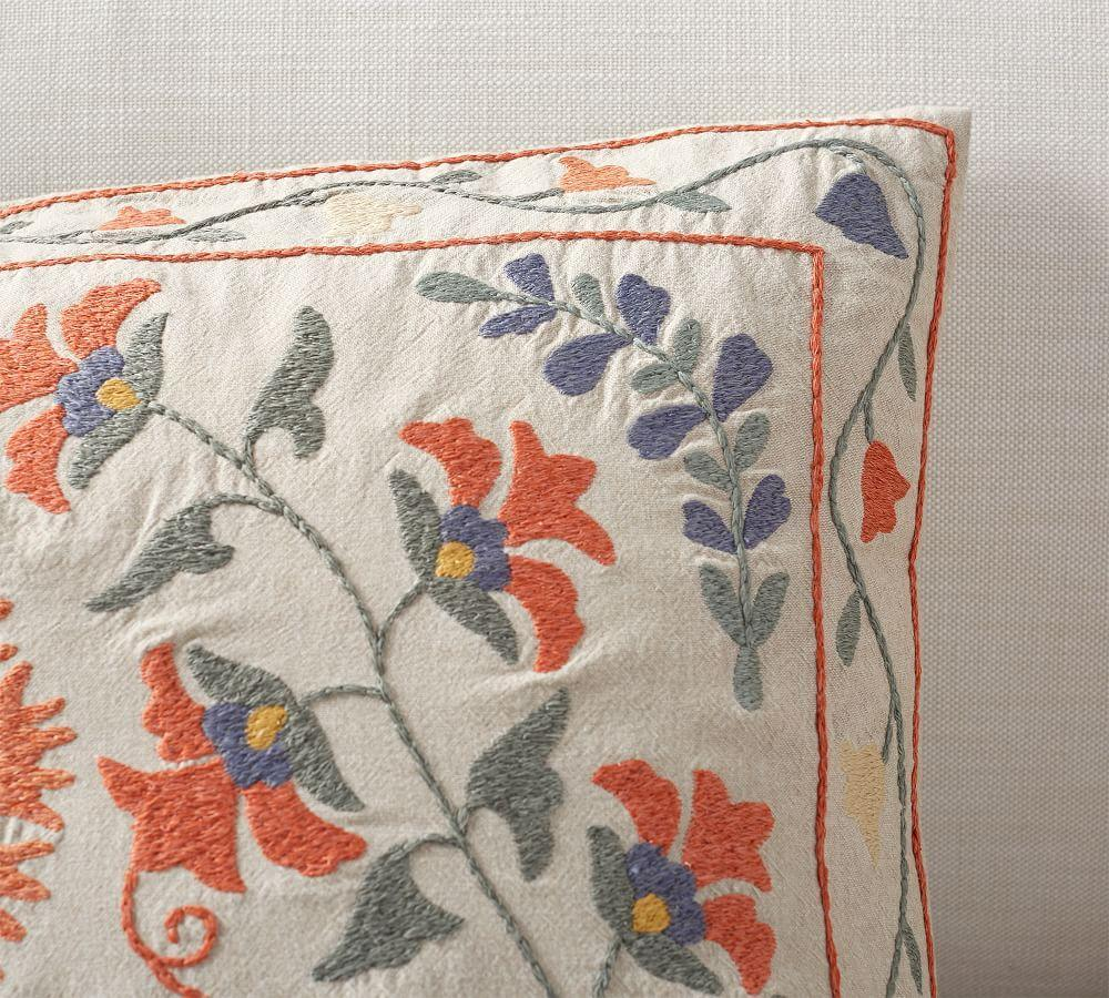 Jasper Embroidered Lumbar Cushion Cover
