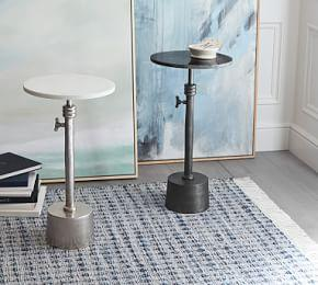Melvin Marble Adjustable Height End Table