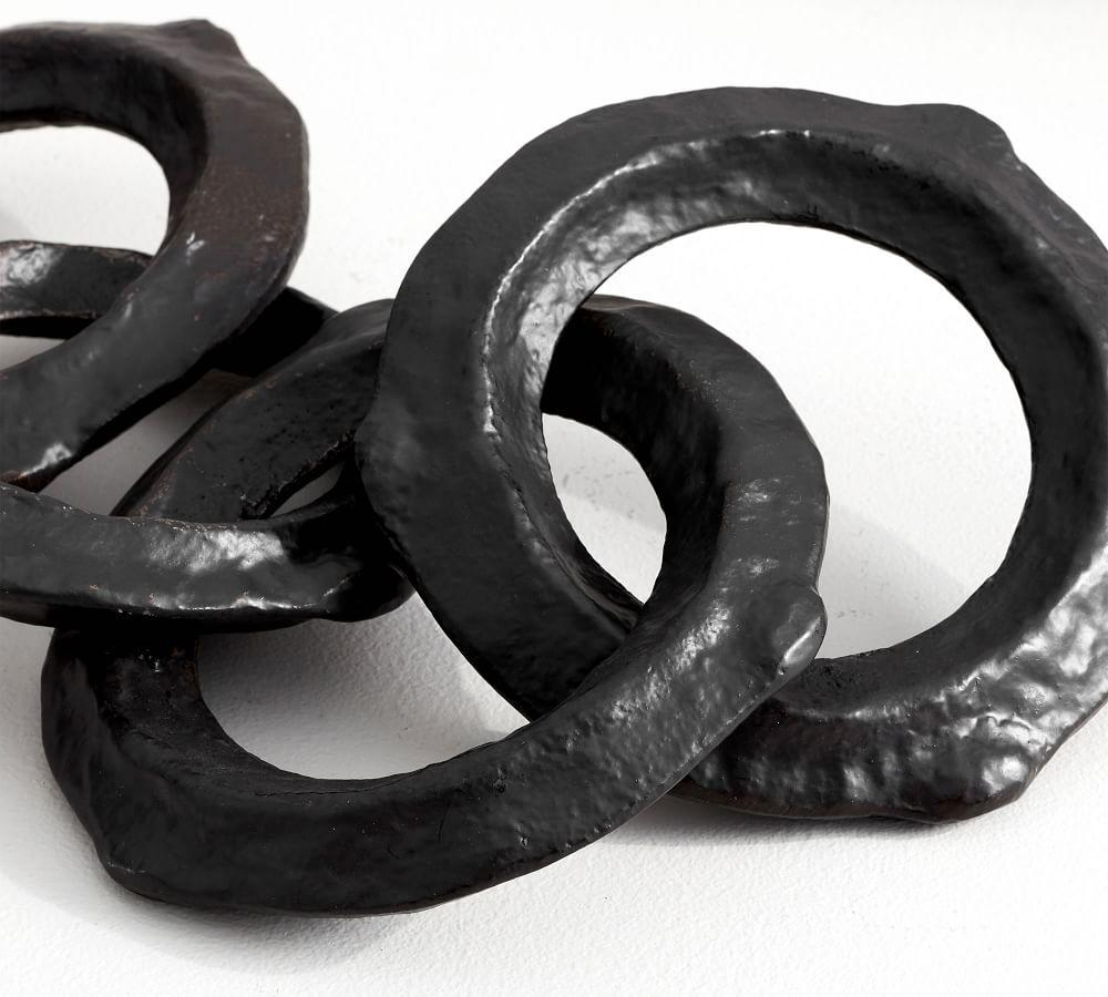 Round Bronze Links Object