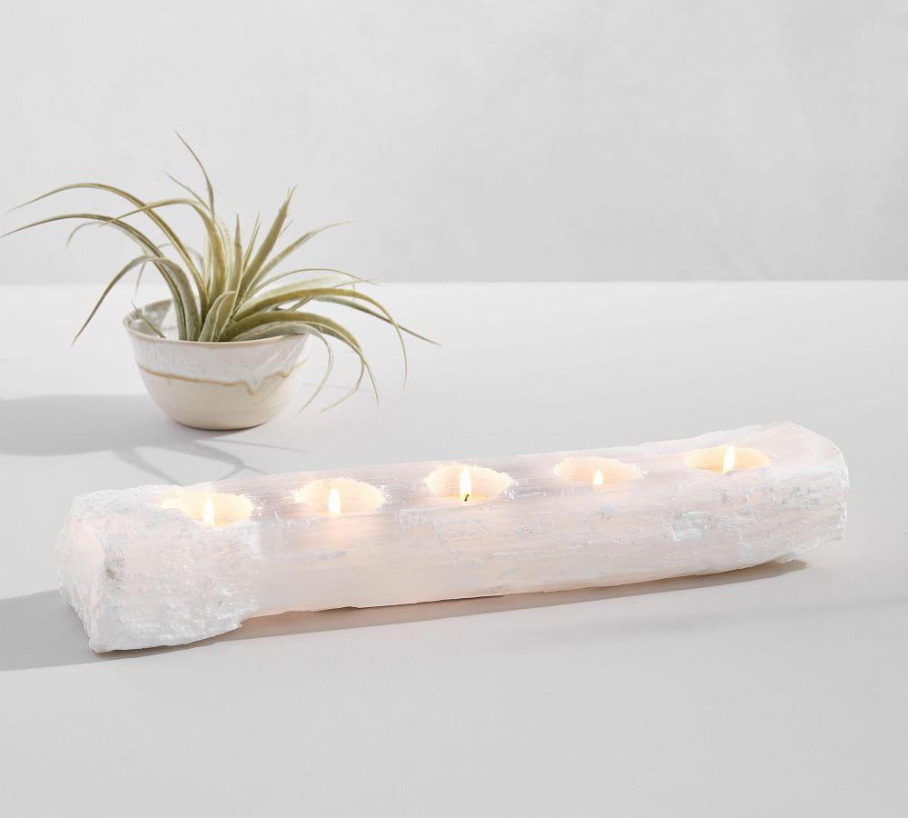 Selenite Multi Tealight Holder
